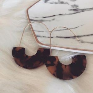 Faux Tortoise Shell Drop Earrings